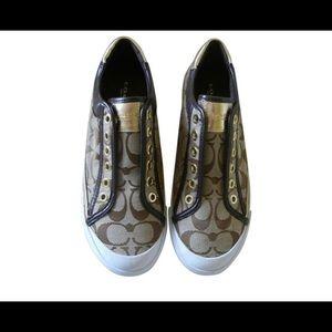 Coach Women's Signature C Metallic Felix Sneaker
